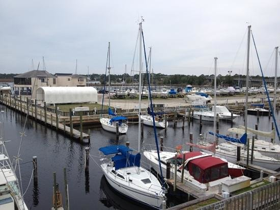 The Moorings at Carrabelle:                   View from room 201 balcony