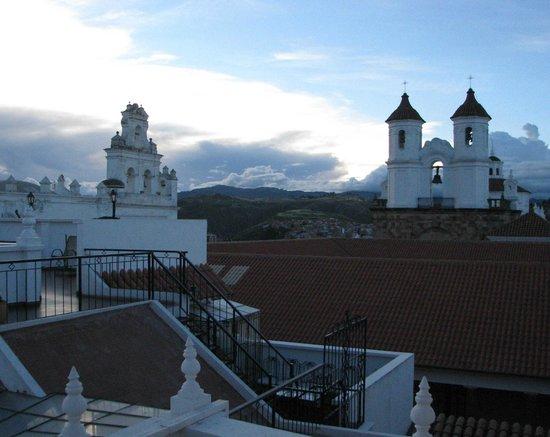 El Hostal de Su Merced:                   Vista desde habitación en planta superior