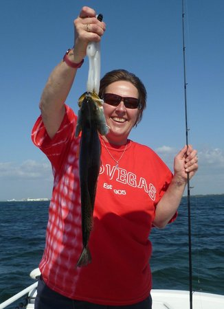 Pirates Pointe Resort :                   It's a keeper!  Fishing trip. Nice trout!