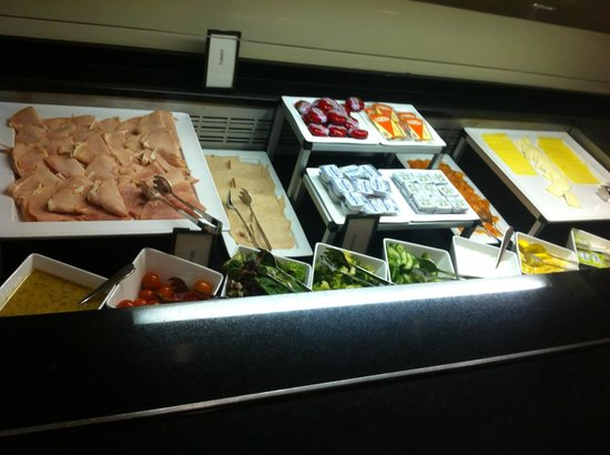 Hilton London Canary Wharf: Cold cuts selection at breakfast