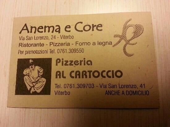 Anema e Core: biglietto da visita