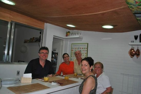 Cook In Rio:                   Our class with Chef Simone (in Orange tunic)