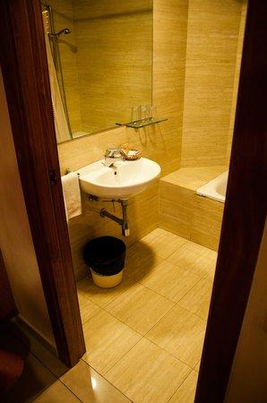 Coronado Hotel:                   Twin room interior - bathroom
