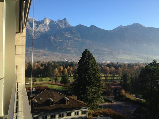 Grand Hotel Hof Ragaz: View from spa suite