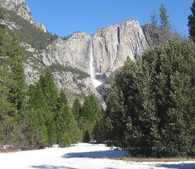 Upper Yosemite Fall in winter
