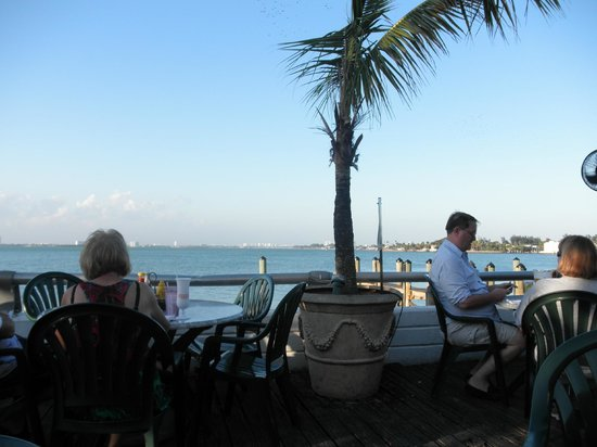 Shuckers Dockside Bar & Grill :                   View from our table