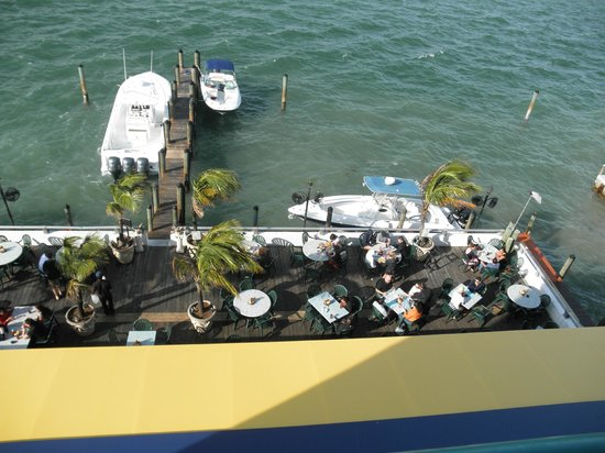 Shuckers Dockside Bar & Grill:                   View from our room