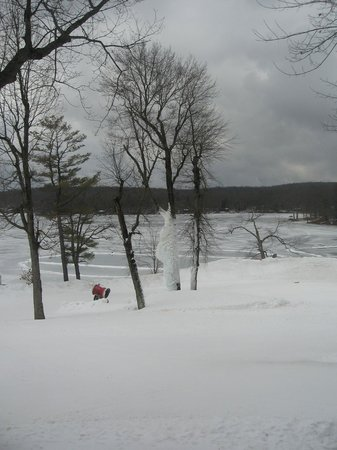 Woodloch Pines Resort:                   view from the main lodge dining room