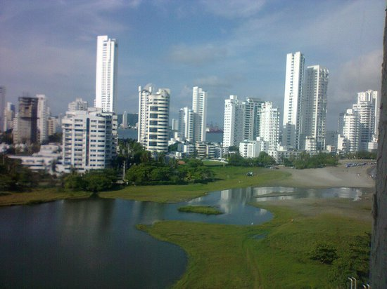 Hilton Cartagena:                   Vista desde la habitación