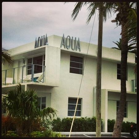 Front of The Aqua Hotel