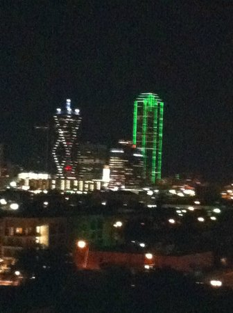 Doubletree by Hilton Dallas Market Center:                   Room view from balcony suite