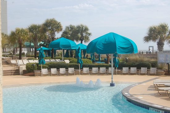 Marriott's Barony Beach Club :                   Outdoor pool area