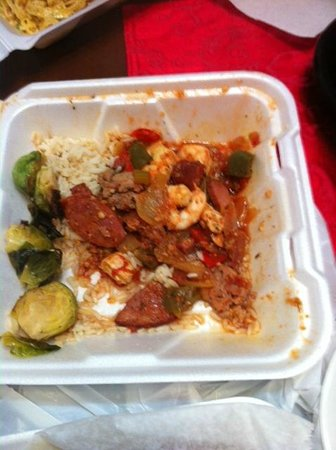 Zydeco Grille:                   looked like that when we open the box . someone leftover