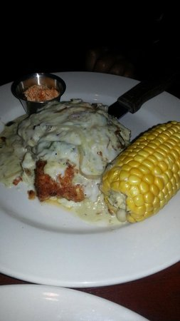 Table Mesa Bistro :                   Pollo con Poblano with chipotle butter for the corn