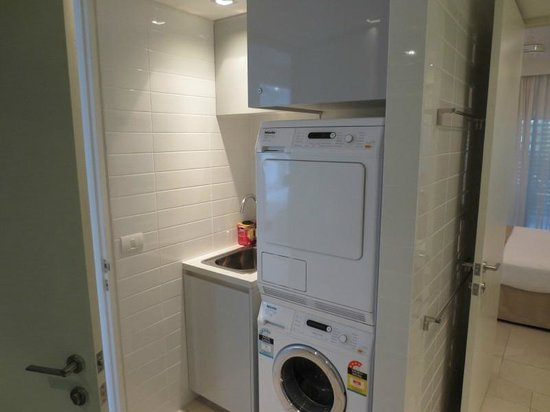 Washer/Dryer in Bathroom 2 - Picture of Coconut Grove Apartments ...