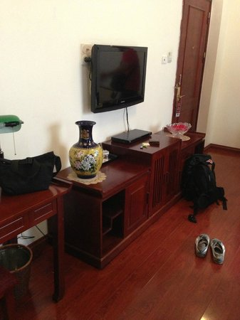 Hanoi Imperial Hotel: the tv console