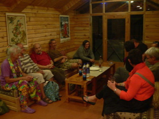 "The Grand Shamba-La: Guests enjoying their stay in our Cafe ""Little Tibet"""