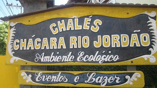Pousada Chacara Rio Jordao: entrada