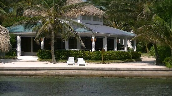 Victoria House Resort & Spa:                   The restaurant/bar from the ocean