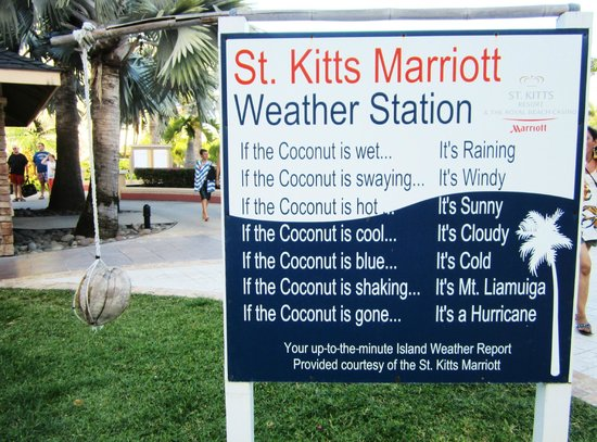 St. Kitts Marriott Resort & The Royal Beach Casino: Coconut Weather Station