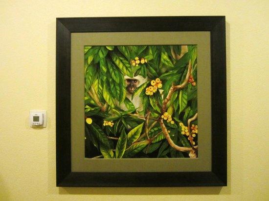 St. Kitts Marriott Resort & The Royal Beach Casino: St. Kitts Monkey painting
