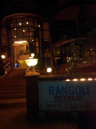 Rangoli retreat at night