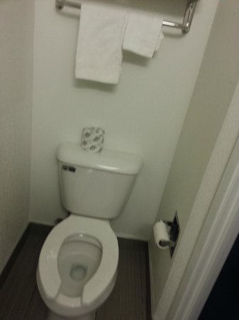 Motel 6 Niagara Falls:                                     Toilet area