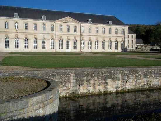 """Abbey of Bec-Hellouin: La riviere """" LE BEC """"."""