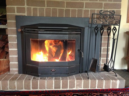 Broomelea Bed & Breakfast : Fire in common lounge