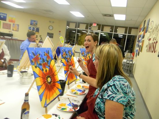 Pretty Flowers Picture Of Painting With A Twist Orlando