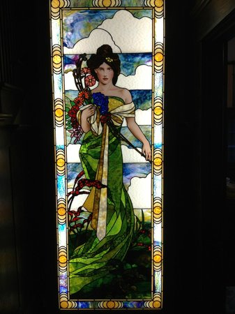 Evermore Guesthouse:                                     Upon entering the front door are two stain-glass windows