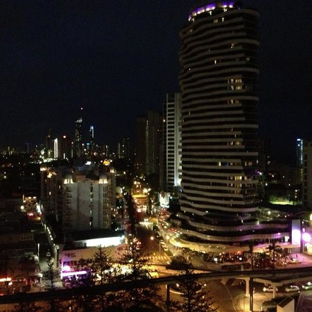 Mantra Broadbeach on the Park:                   Fabulous view at night