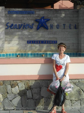 Seaview Patong Hotel:                   Front of hotel