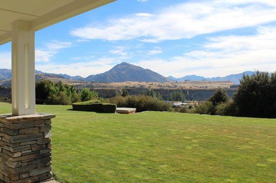 Riverview Terrace:                   Mount Maude from the verandah                 
