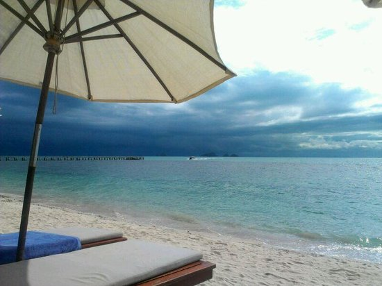 The Sunset Beach Resort & Spa, Taling Ngam:                                     Rainclouds over Taling Ngam