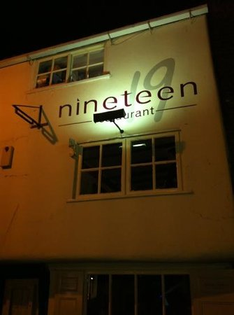 Nineteen:                   outside at night