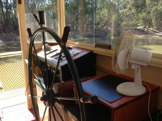 Murray River Paddlesteamers - PS Emmylou : The captain's office