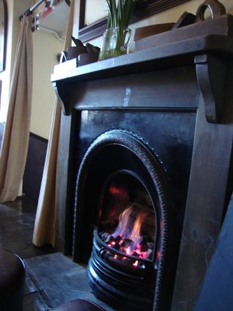 The Dock Inn:                   Fireplace in the bar area