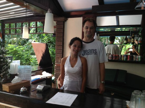 The Village Bunaken:                   The owners, Angelina and Joacim