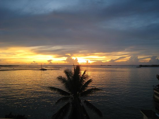 Losari Beach Hotel:                   the sunset from the hotel
