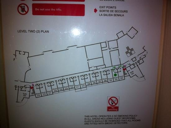East Sussex National: room layout (all facing golf course)