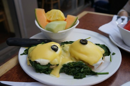 Broken Yolk Cafe :                                     Florentine eggs