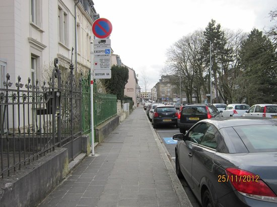 Hotel Le Chatelet:                                     hotel is at the end of this quiet road