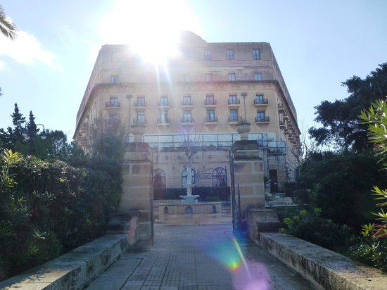 The Phoenicia Malta: View of the hotel from the gardens