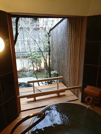 Kinosaki Onsen Nishimuraya Honkan:                   露天風呂からの景色