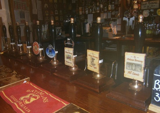 Well stocked bar at the Old Poets' Corner