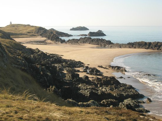 Newborough, UK :                                     Deserted beach on Llanddwyn Island