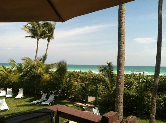 The Alexander All-Suite Oceanfront Resort:                   View of the Beach from Pool Bar area