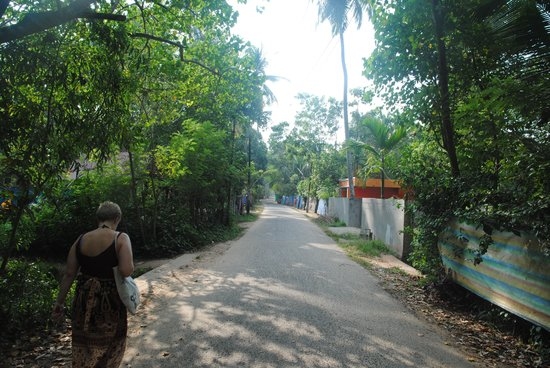 Ananda Beach Home:                   One of the cosy streets leading to Ananda Beach Resort