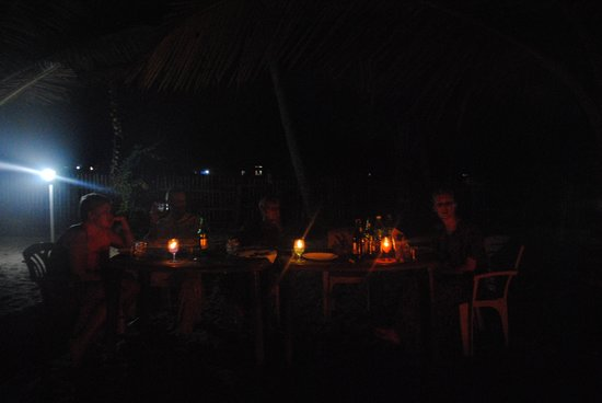 Ananda Beach Home:                   Candle-lit dinner arranged for our family only by Thomas and the rest of the s